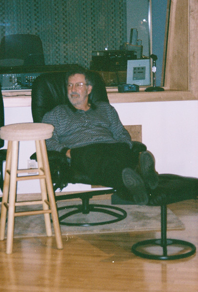 Larry Lebin visiting the Maple Room, August 1999.