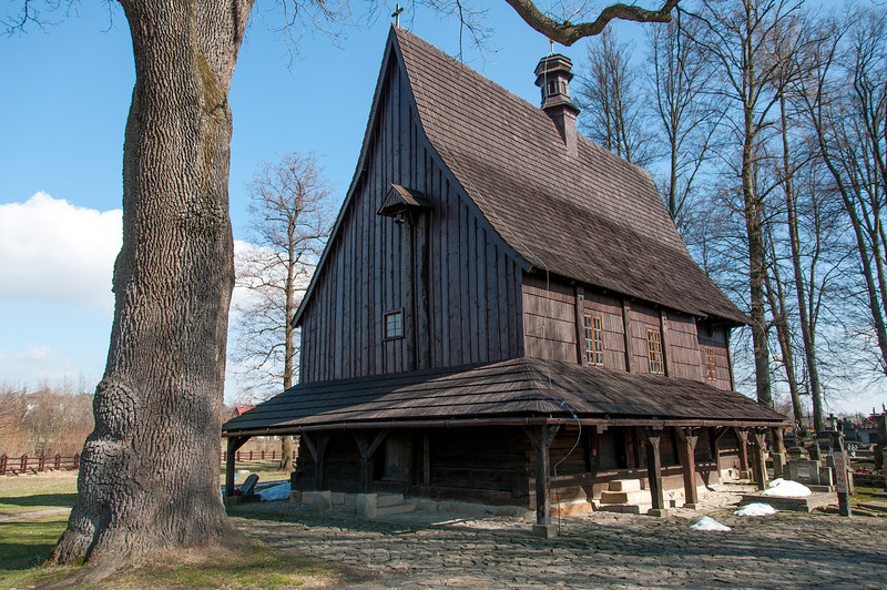 The back of Saint Leonard Church in Lipnica Murowana - Poland
