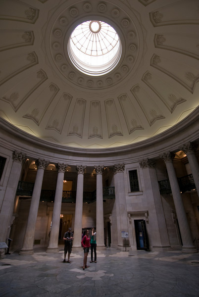 The main hall inside Federal Hall in Wall St, New York
