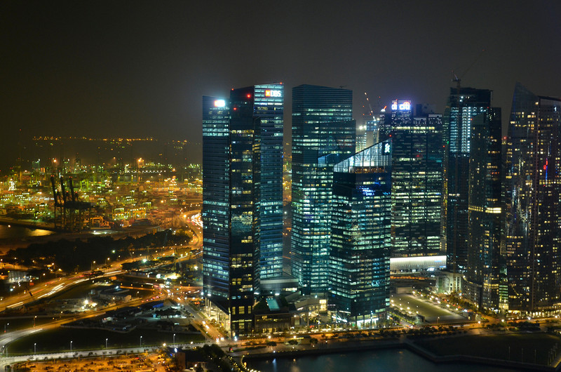 Financial District to the right, Keppel Harbor to the left, Singapore