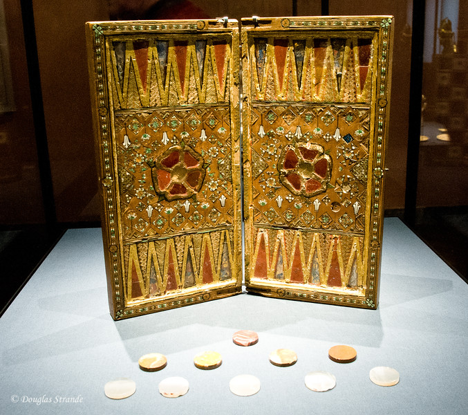 Ornate backgammon set from collections of the Habsburgs