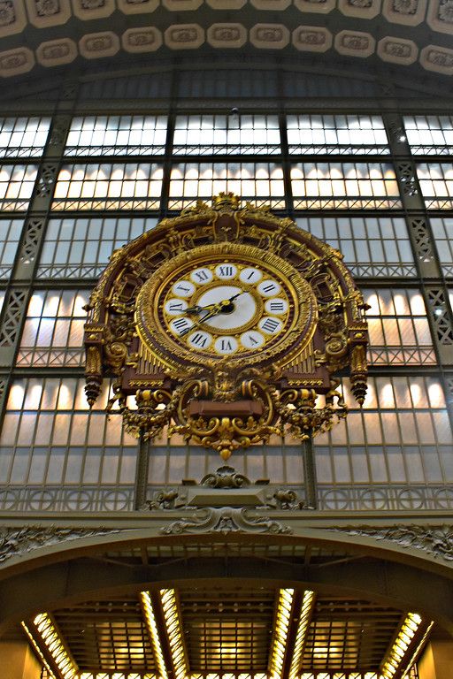 Clock in Musée d'Orsay in Paris, France