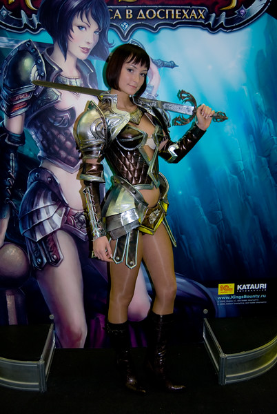 King's Bounty booth-babe from Igromir 2008