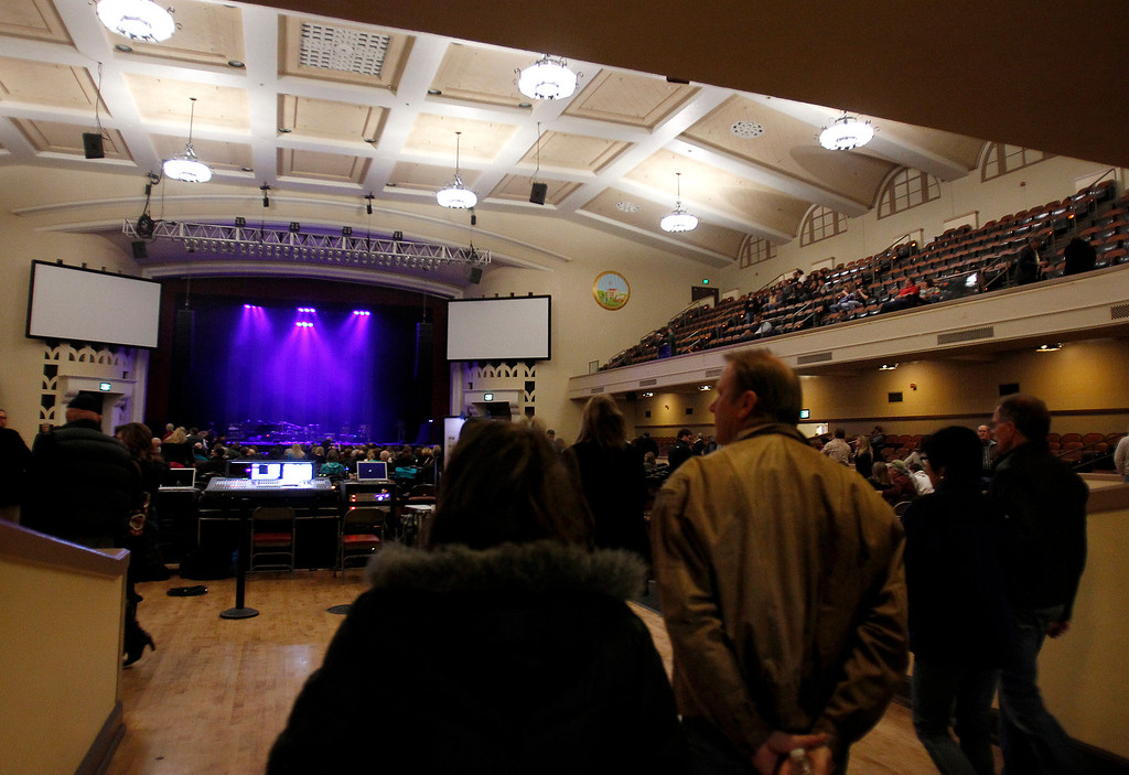 . Inside of the San Jose Civic before Jackson Browne performed at the Civic in downtown San Jose, Calif. on Tuesday, Jan. 22, 2013.  (Nhat V. Meyer/Staff)