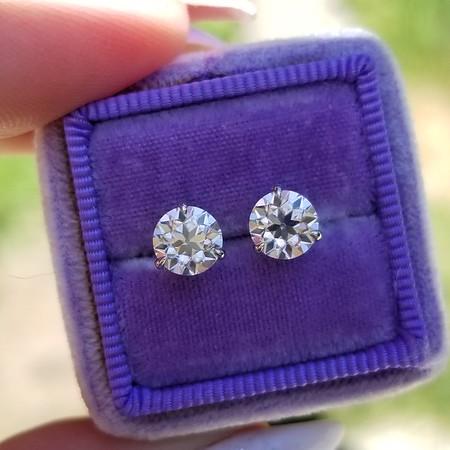 6mm Moissanite OECs in Stuller Martini Earrings
