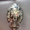 1.18ctw Art Deco Princess Halo Ring 9