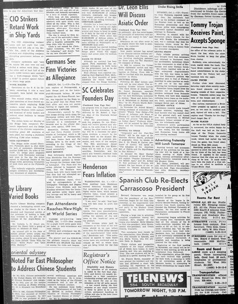 Daily Trojan, Vol. 33, No. 18, September 26, 1941