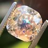 4.03ct Light Fancy Brown Antique Cushion Cut Diamond Halo Ring GIA LFB, SI1 0