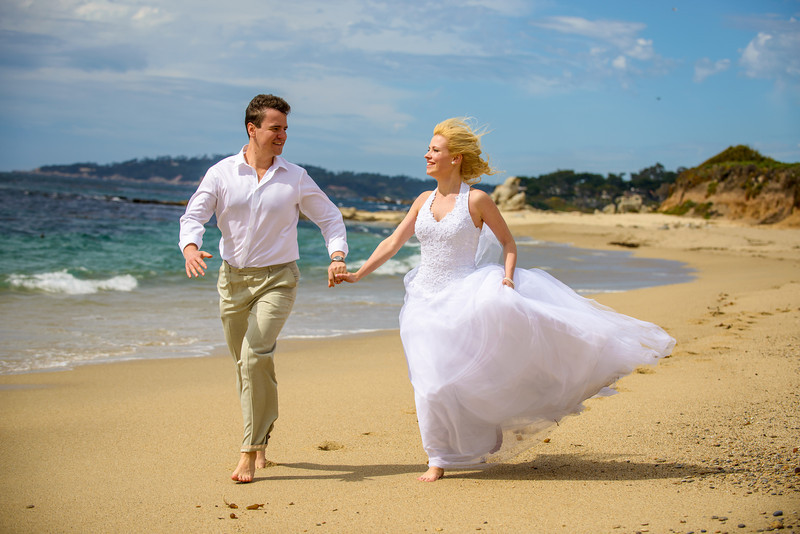 Konstantin and Yevgeniya - Elopement Photography, Wedding Rock, Carmel, California
