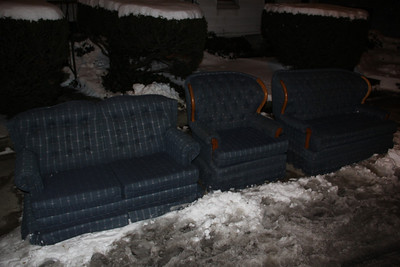 3 Piece Sofa Set Out For Garbage, Pottsville (12-30-2012)