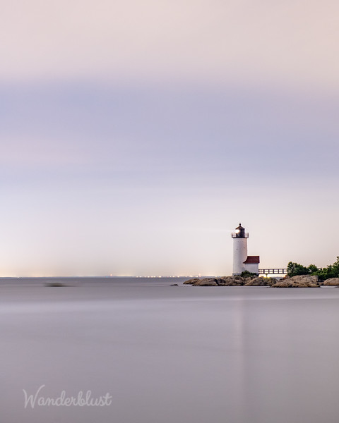 Night fog at Annisquam Lighthouse