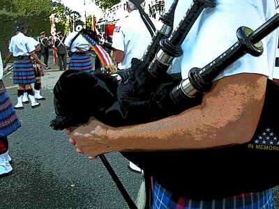 2007-09-15 Wantagh American Legion Pipe Band, Bellmore FD Parade, September 15. 2007