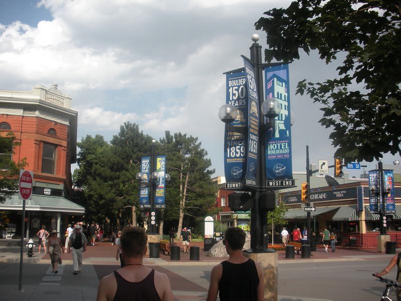 Pearl Street Mall, Boulder Colorado.