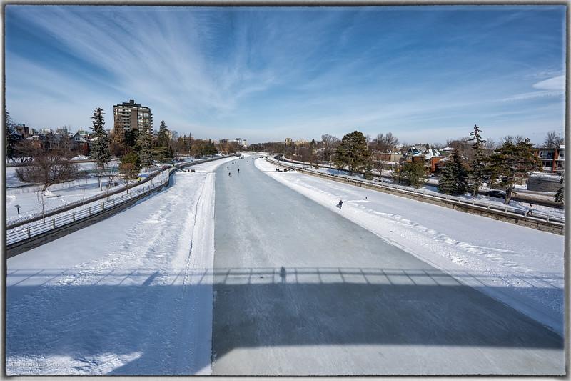 Skating on the Rideau Canal Ottawa