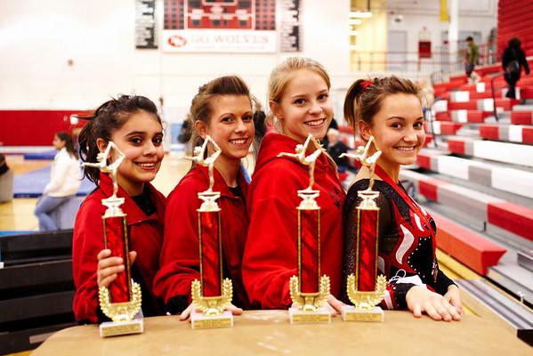 2008.12.18 - Girls' Gymnastics - Niles West @ A Star Is Born Invite