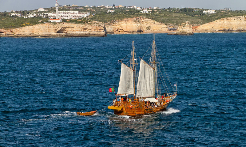 Santa Bernarda Sailing off of Portimão