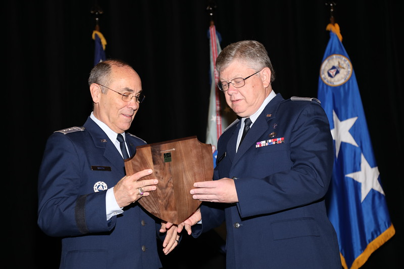 The Squadron Chaplain of the Year selection is based on professional development, moral leadership and participation in missions and exercises.  Chaplain, Maj Jack Bennett is this year's winner.  Photo by Susan Schneider, CAPNHQ