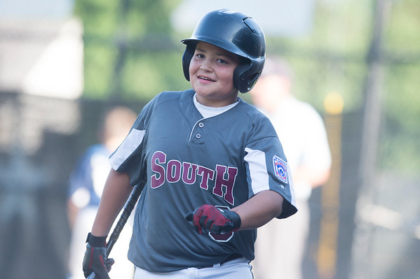 07/09/19 Wesley Bunnell | Staff Southington North vs Southington South in a Little League playoff game on Tuesday July 9, 2019 at Bill Petit Field. Thomas Migliore (0).
