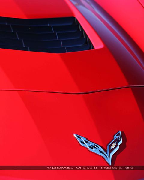 Detail shots of the Corvette.