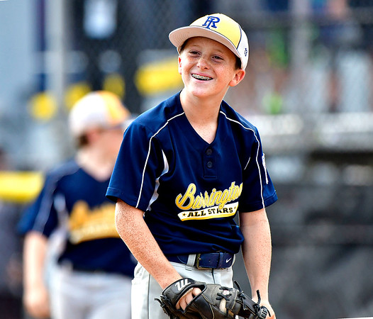 8/10/2019 Mike Orazzi | Staff Rhode Islands Barrington Little League pitcher Owen Pfeffer (13) during his complete game 80 pitch win on Saturday over New Hampshires Goffstown Junior Baseball Little League at Breen Field in Bristol, Conn., during the New England Regional and advancing to the Little League World Series in Williamsport PA.