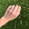 2.85ct Antique Cushion Cut Diamond Halo Ring 28
