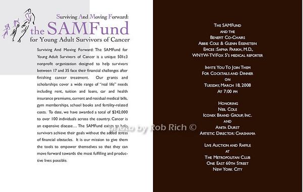 The SAMFund Humanitarian of the Year Dinner at the Metropolitan Club in Manhattan on 3-18-08. all photos by Rob Rich © 2008 robwayne1@aol.com 516-676-3939
