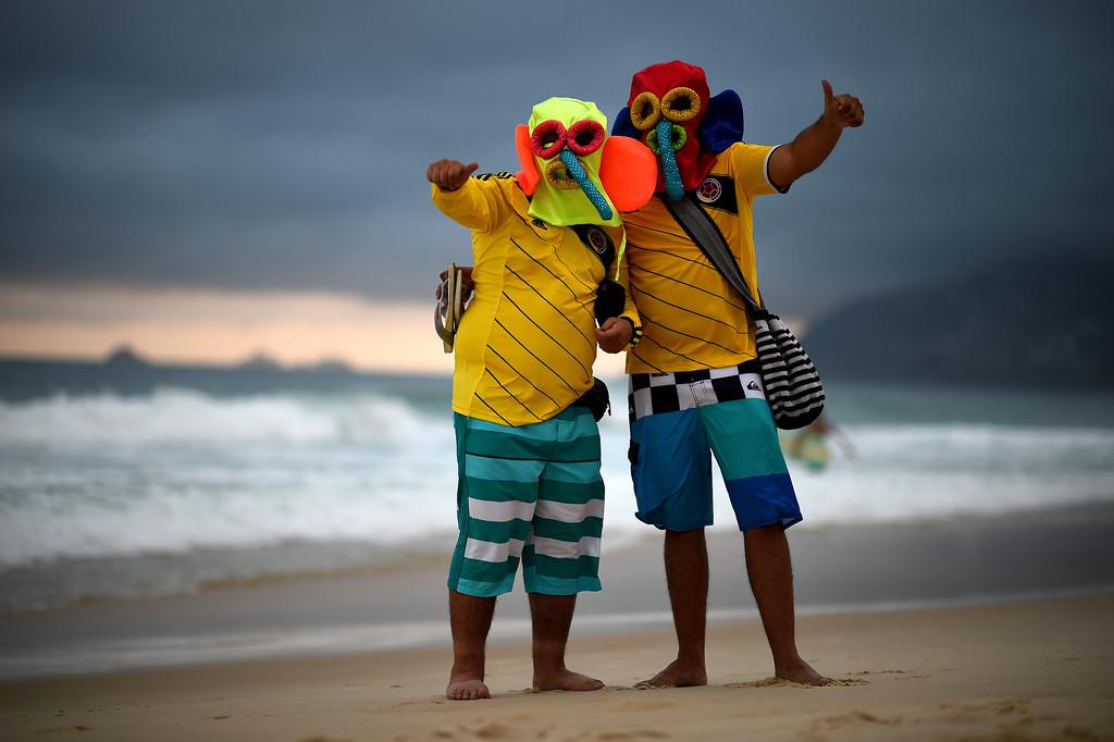 . Fans enjoy the evening on Ipanema beach on June 11, 2014 in Rio de Janeiro, Brazil.  (Photo by Matthias Hangst/Getty Images)