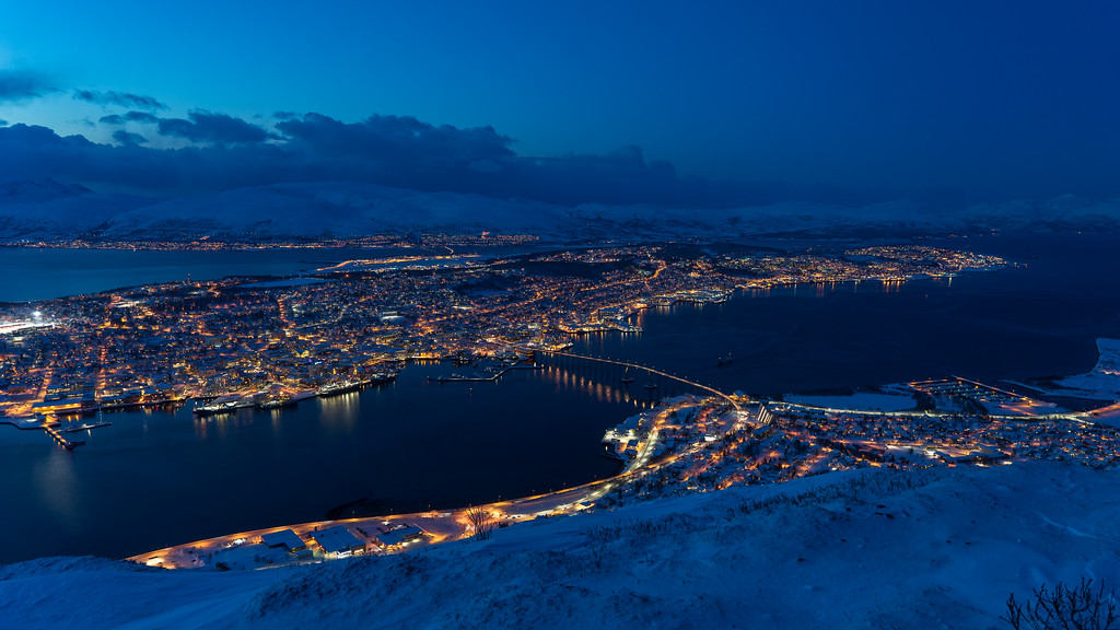 Tromsø in the dusk