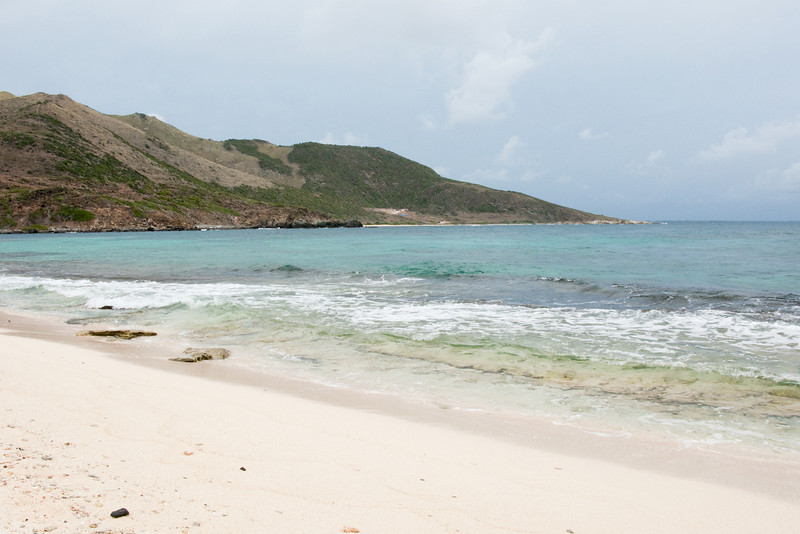 After hiking across Pinel Island you come to a much less populated beach - that's code in St. Martin for naked people beach