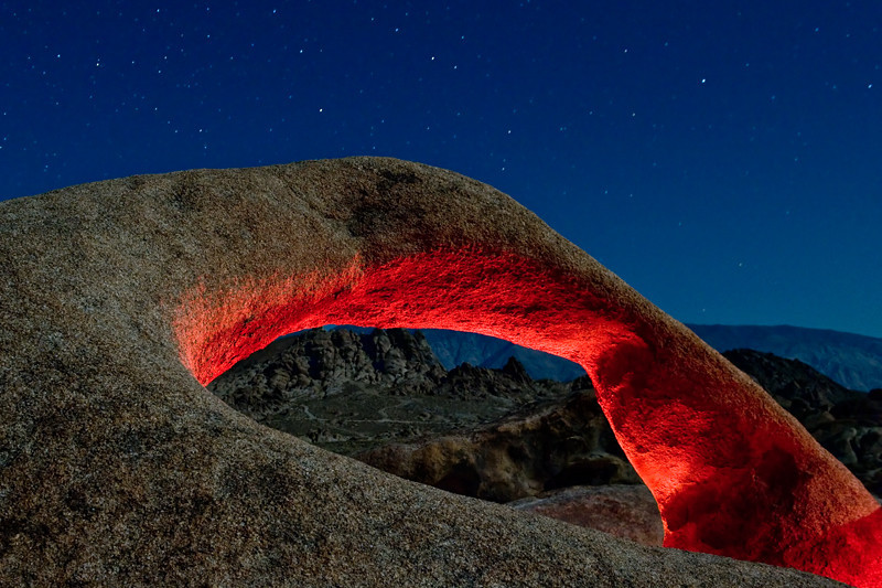 Red Mobius  Mobius Arch, Alabama Hills, Lone Pine, CA