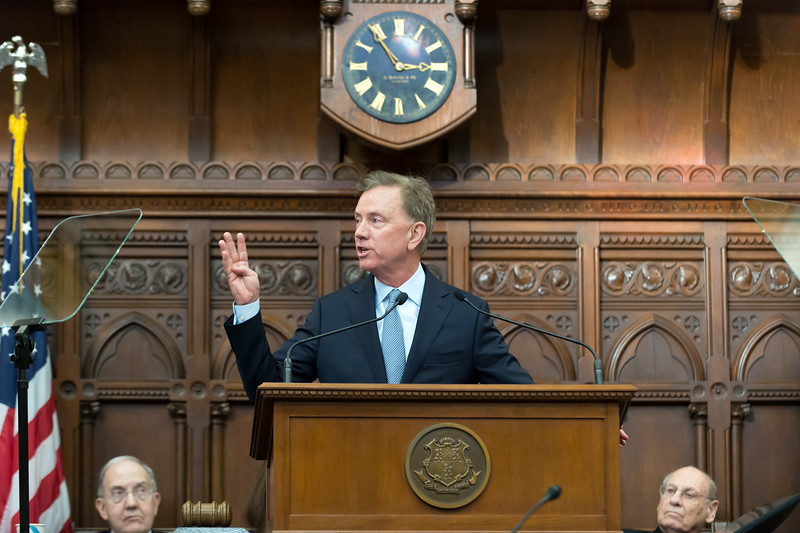 01/09/19  Wesley Bunnell | Staff  Governor Ned Lamont discusses his plan to revive the state's economy his State of the State speech to a joint session of the CT General Assembly.