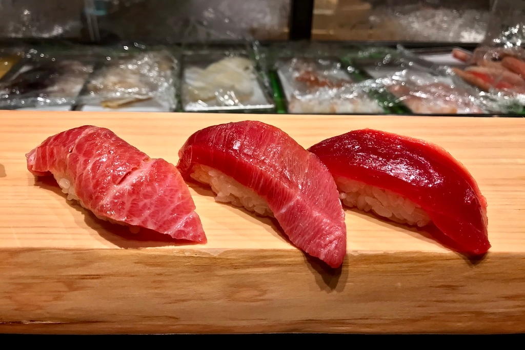 Tuna sushi at Ariso.