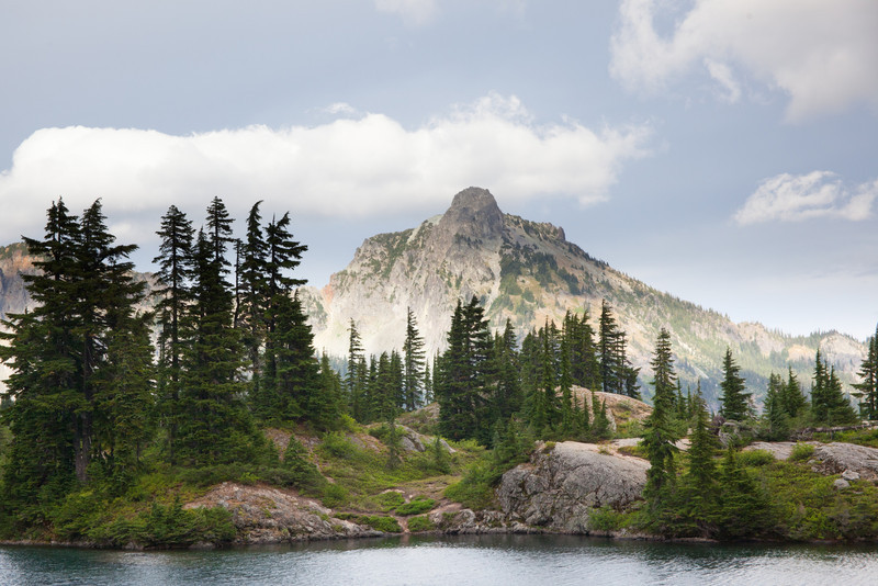 Hibox Peak from Rampart Lakes