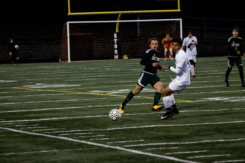 Holy Family Varsity Soccer vs. Monticello Oct 11, 2018: Sawyer Schugel '19 (3)