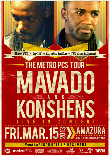 The Metro PCS Tour-Mavado and Konshens live in concert (3.15.13)