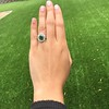 4.38ctw Art Deco Russian Demantoid & Diamond Cluster Ring 12