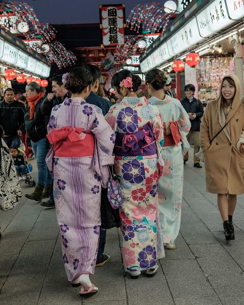 Walking to Sensoji Temple in Asakusa