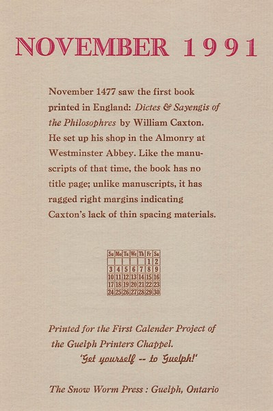 November, 2011, Green Dolphin Press