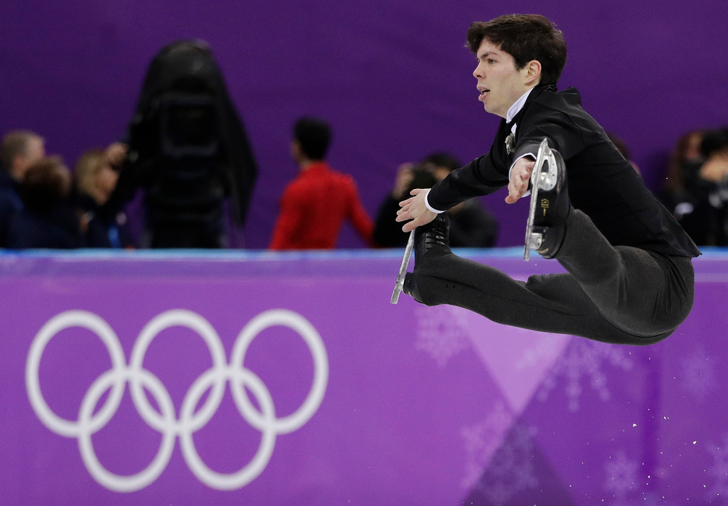 . FILE - In this Feb 17, 2018 file photo, Keegan Messing of Canada performs during the men\'s free figure skating final in the Gangneung Ice Arena at the 2018 Winter Olympics in Gangneung, South Korea. Some three dozen skaters in the Pyeongchang Games are performing for nations in which they were not born. (AP Photo/David J. Phillip, File)
