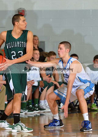 Boys varsity basketball - Williamston at Lansing Catholic - Feb 17
