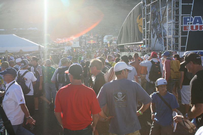 The view towards the podium. It was crazy!