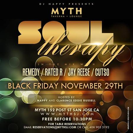 Soul Therapy @ Myth Taverna & Nightclub 11.29.13