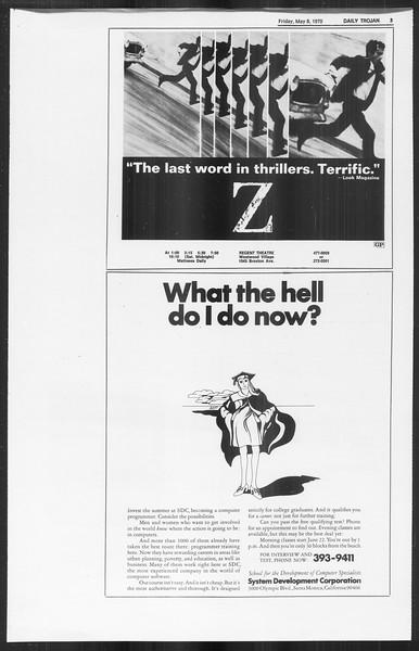 Daily Trojan, Vol. 61, No. 121, May 08, 1970