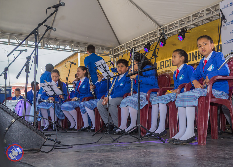 A Childrens Band Performing at the 2017 Boquete Jazz and Blues Festival (BJBF) Instruments Purchased with the Proceeds from Previous BJBF (©simon@myeclecticimages.com)