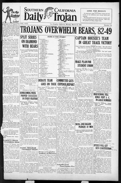 Daily Trojan, Vol. 17, No. 112, March 22, 1926