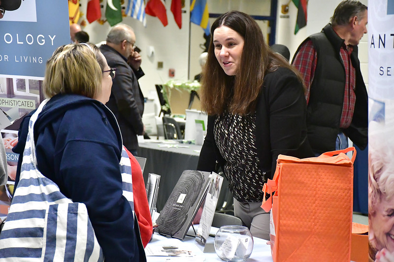 4/6/2019 Mike Orazzi | Staff Anthology of Farmington's Holly Seymour during the 5th Annual Connecticut Prime Time Senior Fair Saturday at Bristol Eastern High School.
