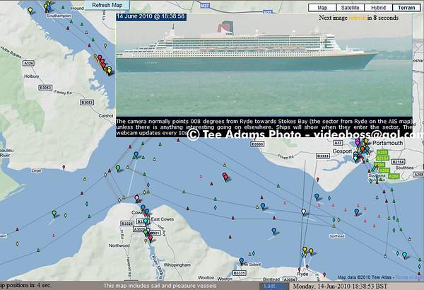 Cunard Ships Sail 6-14-10