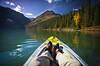 """""""Paddling Taylor Lake"""" II, Banff National Park, Alberta, Canada."""