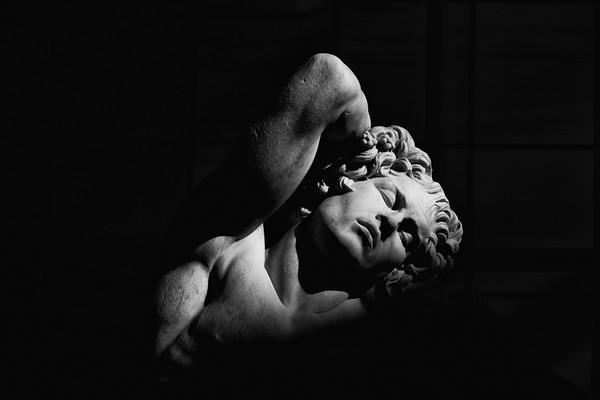 February 15 - Getting some sleep in midday sun, The Sleeping Faun at The Getty, Los Angeles.jpg