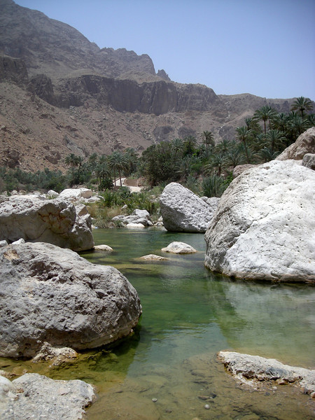 in Wadi Tiwi near the Indian Ocean